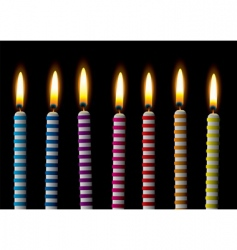 Birthday candle vector