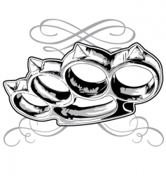 brass knuckle vector image
