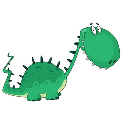 cartoon dino vector image vector image