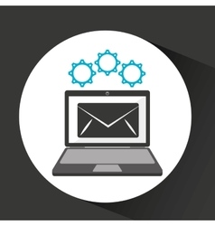 Computer security email social network concept vector