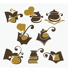 cooking book collection vector image vector image