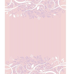 Decorative wedding background vector image