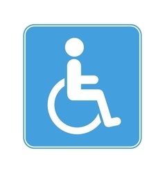 Disabled wheelchair sign on white vector