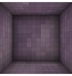 Empty futuristic room with purple walls vector