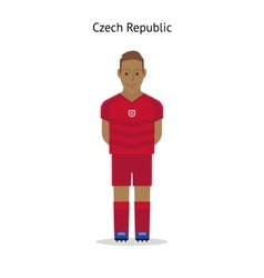 Football kit czech republic vector