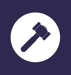 Hammer sledgehammer icon on white vector