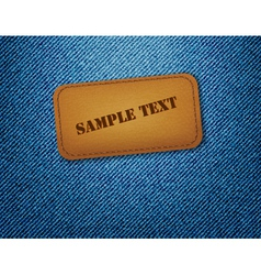leather label vector image