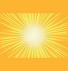orange rays pop art comic background vector image