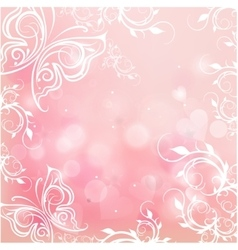romantic pink background vector image