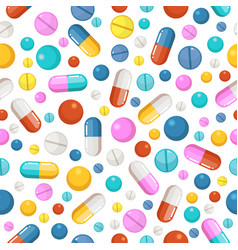 Seamless pattern of pills and other vector
