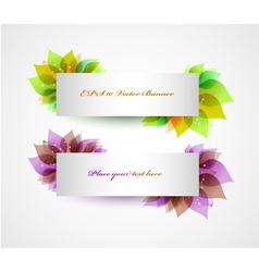 Set of banners with spring leaves vector