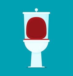 Toilet flat icon vector