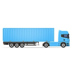 Truck semi trailer 05 vector