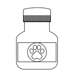 Veterinary medicine icon vector