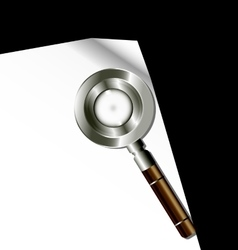 white paper and magnifier vector image