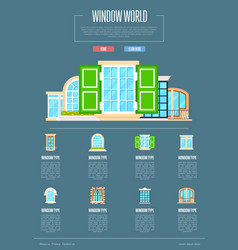 window world concept in flat design vector image