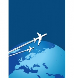 world flight vector image