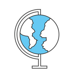 World planet school icon vector