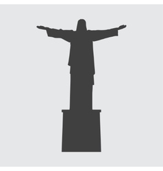 Statue of christ the redeemer icon vector
