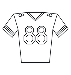 Jersey player american football outline vector