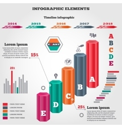 Infographics elements three dimensional columns vector