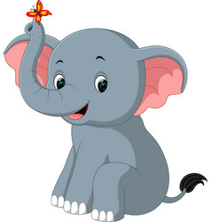 Elephant cartoon vector
