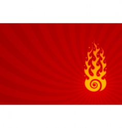 hypnotic flame vector image