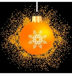 Orange glass ball vector