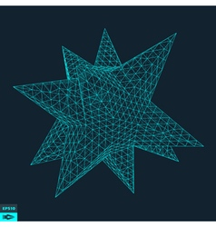 Lattice Geometric Polygonal Element vector image