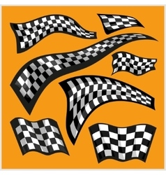 Checkered racing flags - set vector