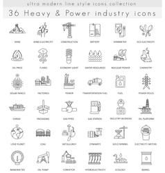 Heavy and power industry ultra modern vector