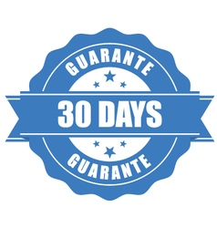 30 days guarantee stamp - warranty sign vector