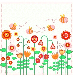 Lovely flowers vector