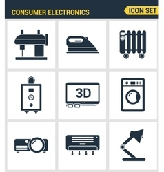 Icons set premium quality of home appliances vector