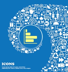 Infographic icon nice set of beautiful icons vector