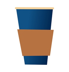 A cup is palced vector image vector image