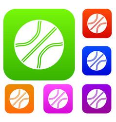Basketball ball set collection vector
