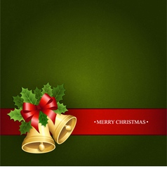 Beautiful background with the christmas bells vector