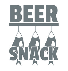 beer snack logo simple gray style vector image