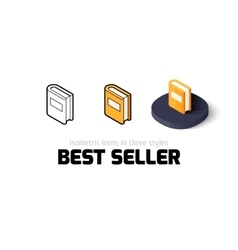 Best seller icon in different style vector