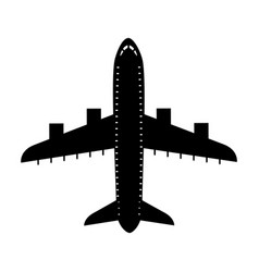 Black icon airplane cartoon vector
