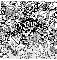 Cartoon cute doodles science frame vector