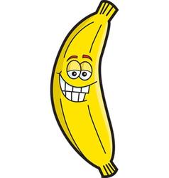 Cartoon smiling banana vector