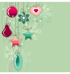 christmas background with stylized contour balls vector image