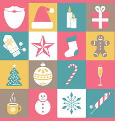 collection of christmas and new year icons vector image
