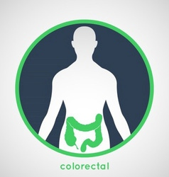 Colorectal poster vector