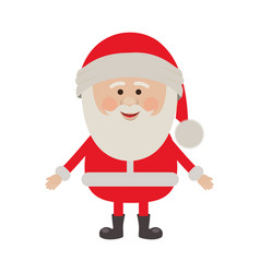 colorful silhouette of santa claus waiting for hug vector image vector image