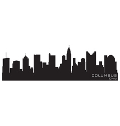 Columbus ohio skyline detailed silhouette vector