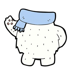 Comic cartoon polar bear body mix and match or add vector