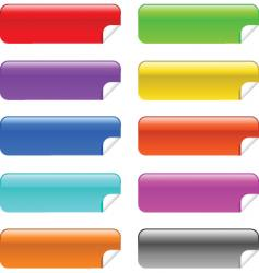 glossy stickies vector image vector image